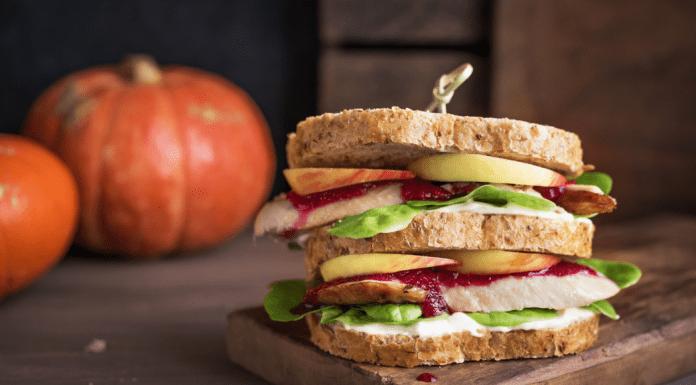 turkey sandwich with apples